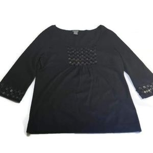 Sweaters - Ann Taylor Black Bell Sleeved Sequin Sweater